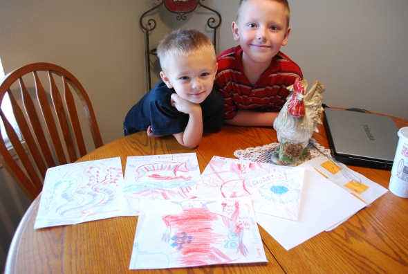 Jayson, 5, and William, 8. Adorable, precious, creative, genius, sweet, fun . . . do I sound like a grandma?!