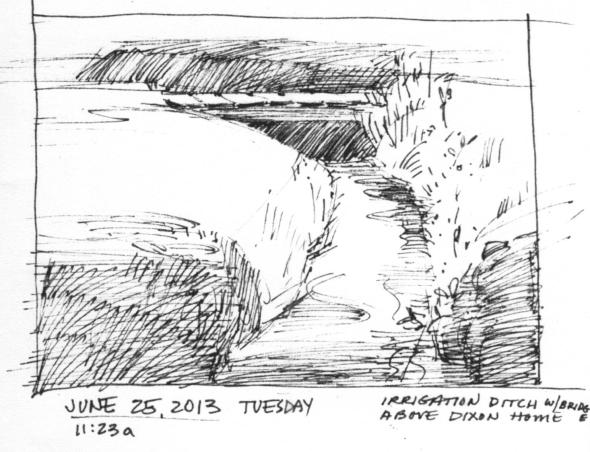 sketch of irrigation ditch Dixon #6 001