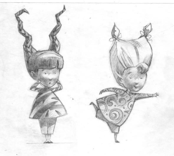siz and driz character sketch