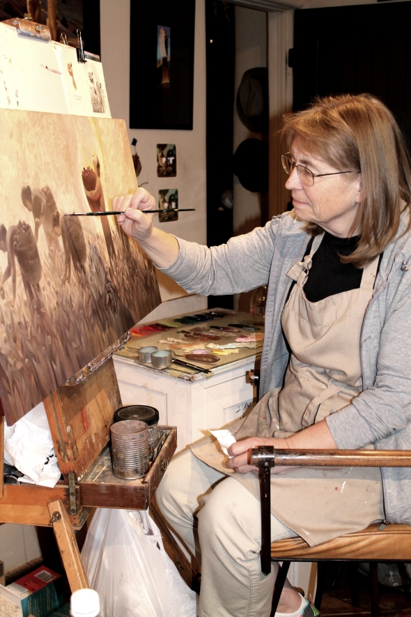 Dilleen Humphries Marsh, artist, in her Hurricane, Utah studio.