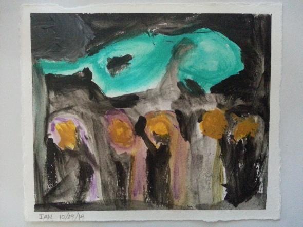 Ian's art w frame