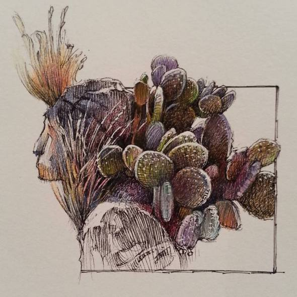 Cactus Rock Woman